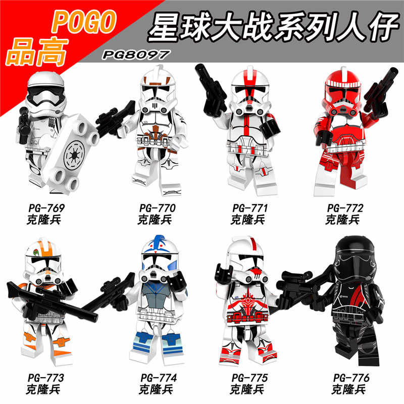 Jedi Star Wars Clone Rebel Trooper Imperial Ground Crew Lor San Tekka Stormtrooper Building Blocks   Army figures Toys