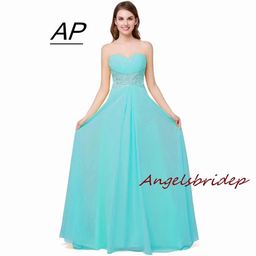 فستان سهرة من ANGELSBRIDEP بمقاس كبير 2020 مزين بكريستال ساحر وترتر رداء De Soiree للبيع تحت 25 دولارًا فستان رسمي