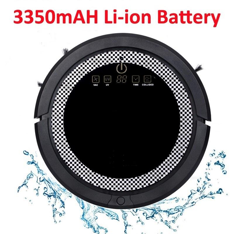 Robot aspirateur automatique de nettoyage humide et sec de grande Promotion QQ6 avec le réservoir d'eau, batterie au Lithium de 3350 MAH