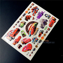 Anime Kids Rusteze Racing Car Temporary Tattoo Sticker Fake Child HCG-127 Cartoon Waterproof Flash Tattoo Kids Body Arm Tatoos