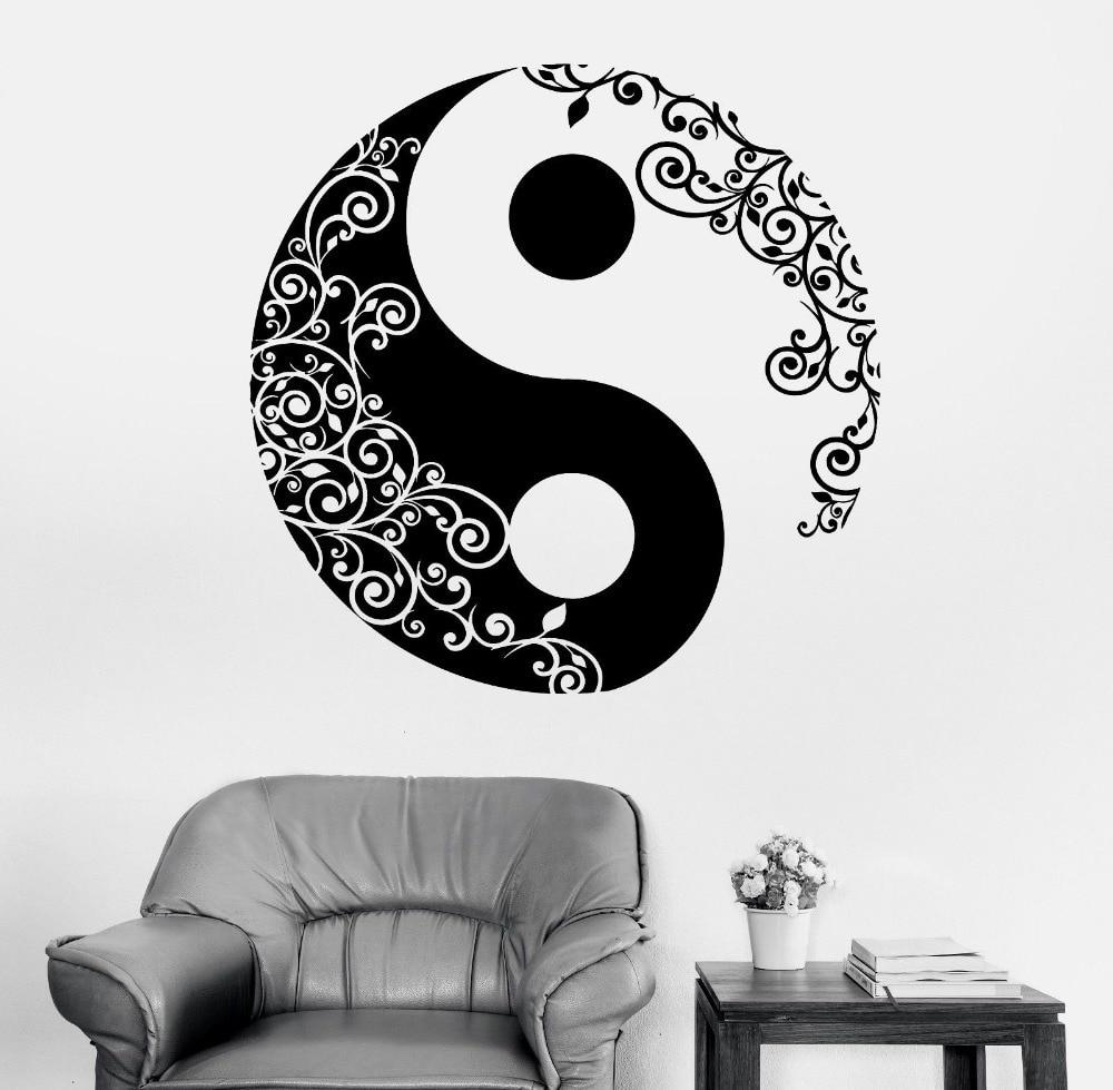 Mandala Wall <font><b>Sticker</b></font> <font><b>Home</b></font> Decal Buddha Yin Yang Floral Yoga Meditation Vinyl Decal Wall <font><b>Art</b></font> <font><b>Mural</b></font> <font><b>Home</b></font> Decor Decoration D175