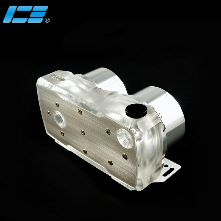 Iceman cooler pump cover for double Dual D5 pump watercooling G1 4 black transparent color high