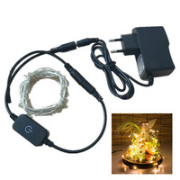 DC12V LED String 10M 33ft Silver Wire Warm White Adjustable Light Outdoor Party Christmas Holiday Home