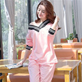 Cotton womens pajama sets Autumn and winter Long Sleeve femme pijamas mujer homewear M L XL home suit Plus Size pyjama