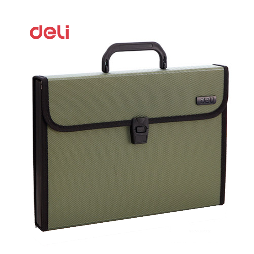 Deli Stationery File Folder A4 12 Packet Durable Expanding Wallet Manage Files Organizer Paper Holder Document 40D5555