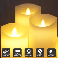 Remote LED Electronic Flameless Candle Lights 3pcs A Lot Simulation Flame Flashing Candle Lamps Party Holiday