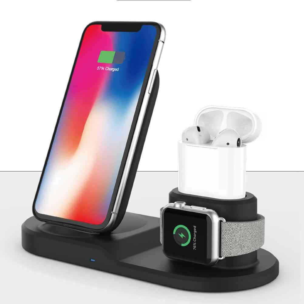 Cargador inalámbrico 3 en 1 estación de carga inalámbrica para Apple Watch airpods iphone