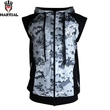 Free shipping Martial :New Arrival Fitness zipper MMA hoodies comfortable mma   sweater crossfit sleeveness  sweatshirts
