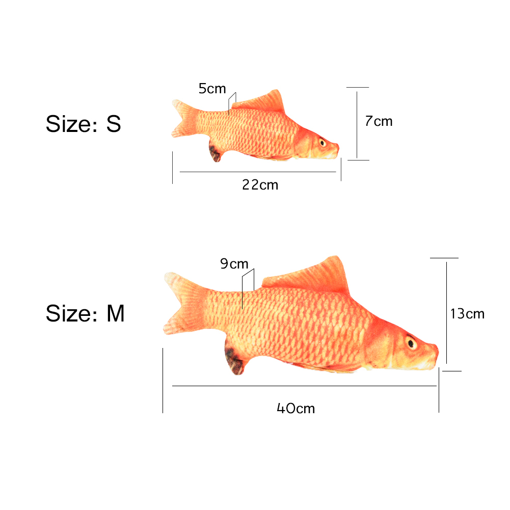 Color cats like - 40cm Golden Color Simulation Fish Toy Lifelike Reduce Your Cat Depression Carp Shape Toy Pet Cat Teaser Toy