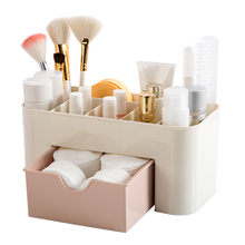 Plastic Cosmetic Drawer Makeup Organizer Makeup Storage Box Container Nail Casket Holder Desktop Sundry Storage Case 712(China)
