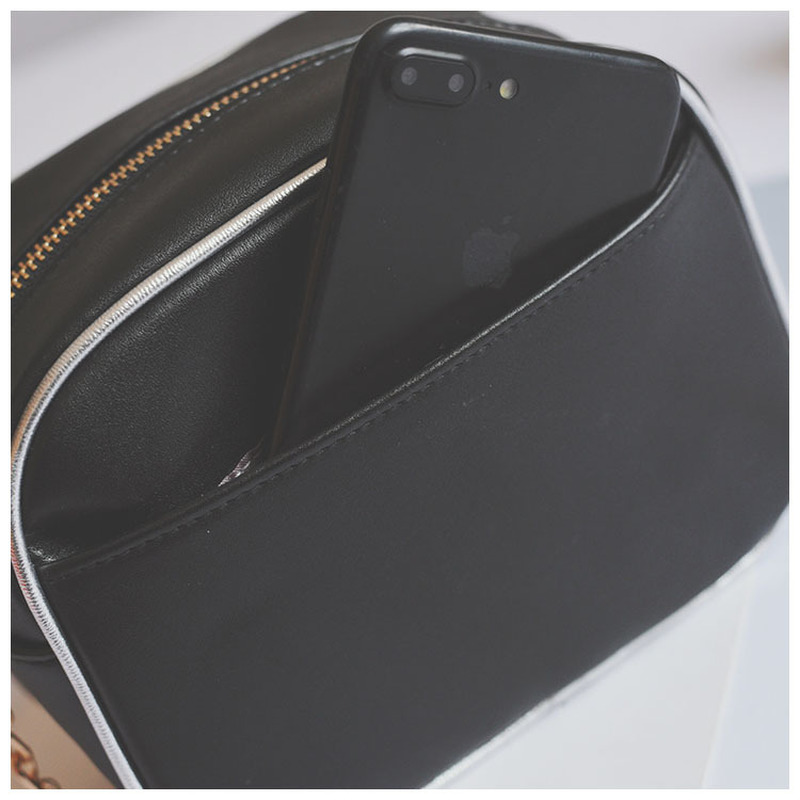 Kamera Cartoon Printing Women Bag Mode Små Sequined Kedjor - Handväskor - Foto 3