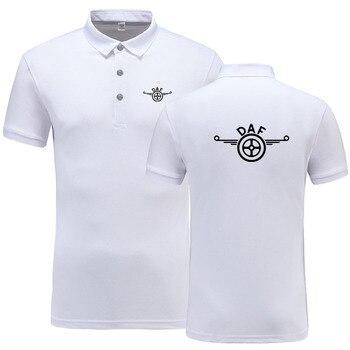 66cc8a9eae0 Новое поступление брендовая одежда для мужчин тенниска с логотипом  повседневное мужской DAF мужские Поло рубашка короткий рукав