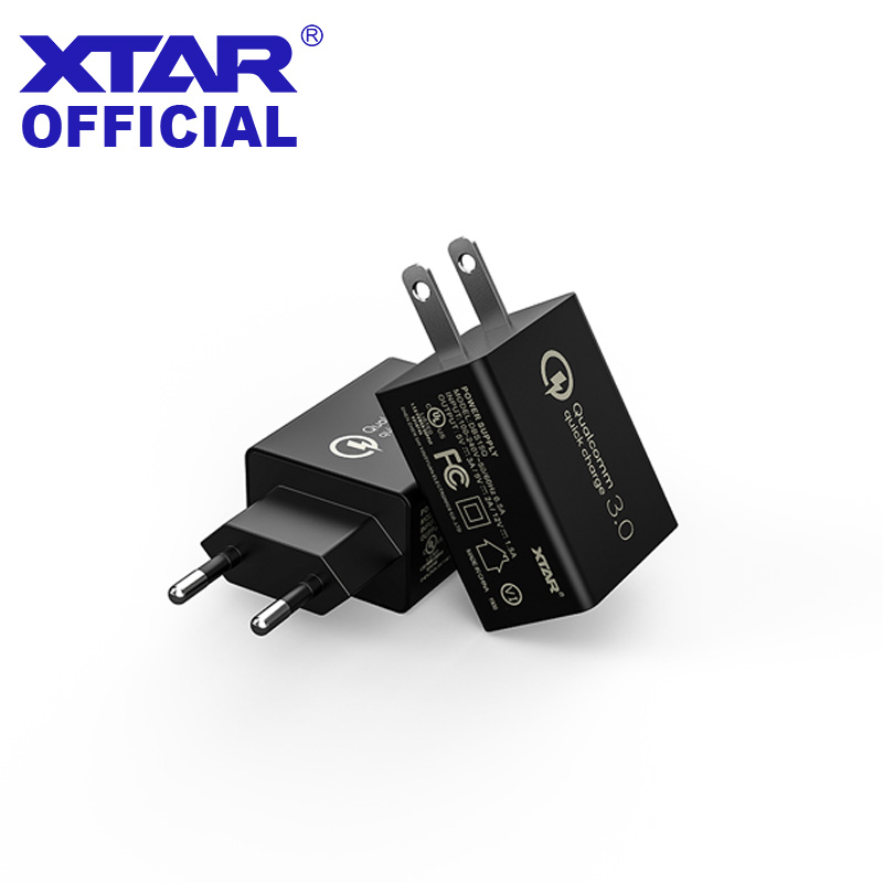 XTAR USB Charger 18W Quick Charger 3 0 Mobile Phone Charging For IPHONE Huawei Wall Charger EU US Adapter Fast QC 3 0 Charger in Chargers from Consumer Electronics
