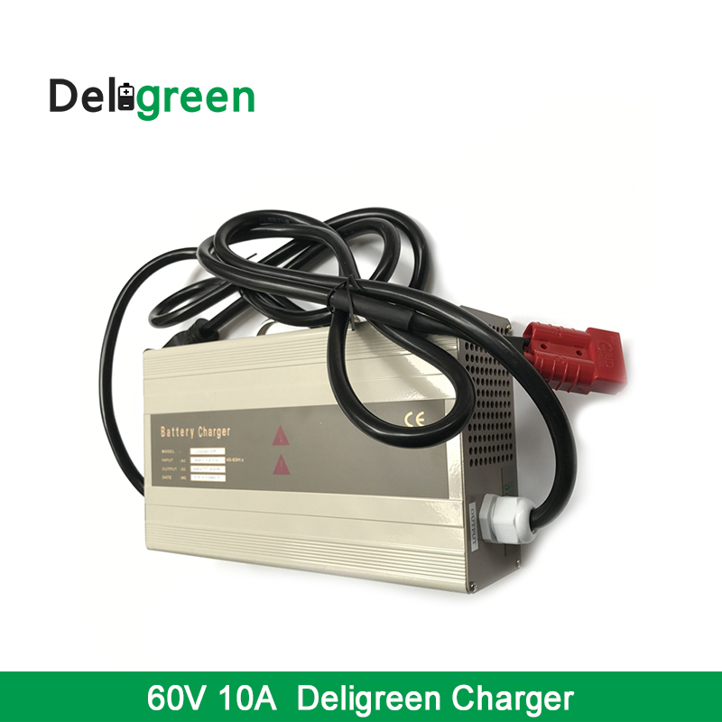 Deligreen Automatic 60V 10A Car Battery Charger 110V 120V Input for 16S Lithium ion 18650 DIY Pack With CE For Euro MarketDeligreen Automatic 60V 10A Car Battery Charger 110V 120V Input for 16S Lithium ion 18650 DIY Pack With CE For Euro Market