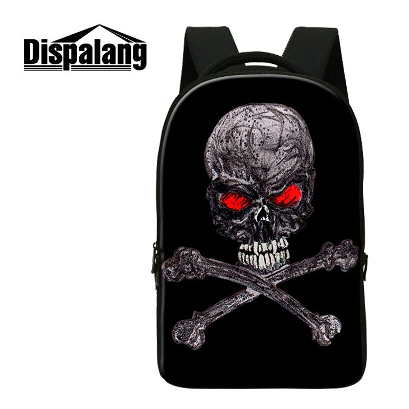 Dispalang Street Rock Backpack Men Punk Backpack Azrael Skull Backpacks For Teens Girls Boys School Bags Hip Hop Daily Backpacks new 3d skull backpack shoulder bags for men printing backpack men punk rock school backpack for men casual school bags for boys