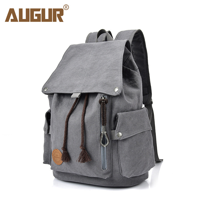 AUGUR Vintage Backpack Women Bags Men Canvas Laptop Backpacks For Girls Teenagers Wear-Resistant Schoolbag Mochila Masculina