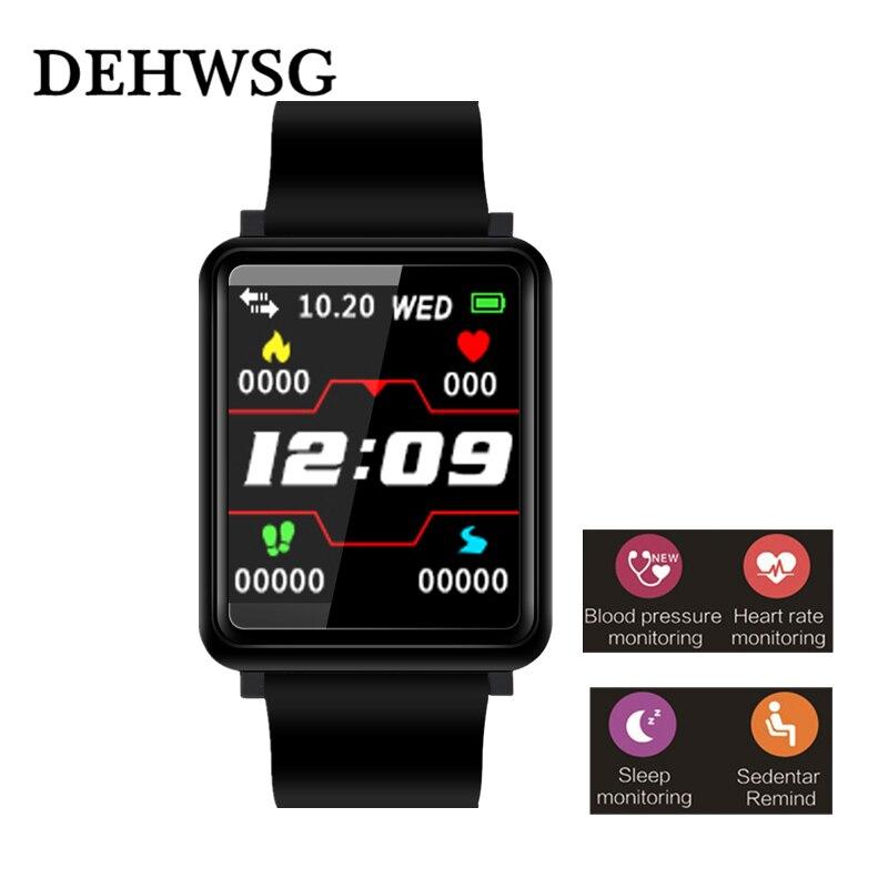 Новый Smart Браслет Цвет Экран крови Давление монитор сердечного ритма Фитнес браслет IP67 Водонепроницаемый Bluetooth 4,0 смарт-браслет