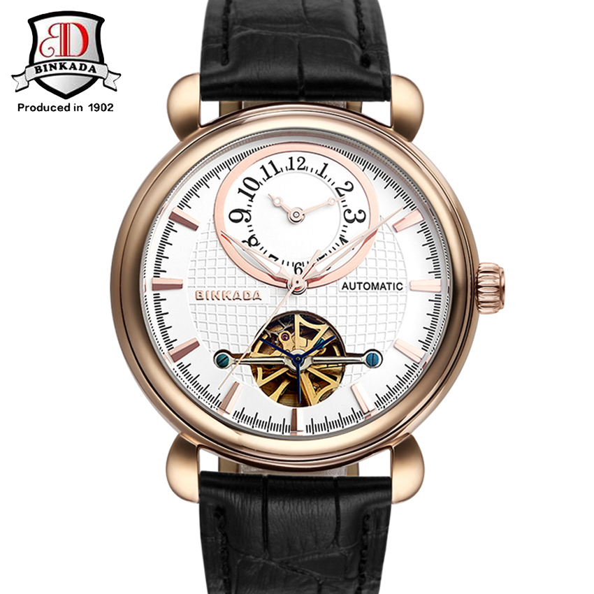 ФОТО BINKADA Automatic Watches Men Skeleton Mechanical Watch Stainless Steel Top Brands Luxury Man Watch Montre Homme Wristwatch