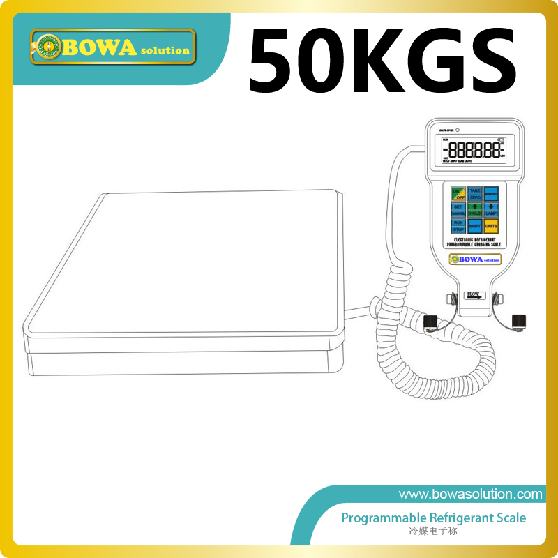 50Kgs programmable refrigerant scale for constant temperature unit  and water temperature machine and oil temperature control