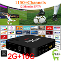 Amlogic CAIXA DE TV Com 1 Ano IPTV Europa MXIII-G S912 Octa Núcleo 2G/16G Android 6.0 WiFi Tv Box UHD 4 K 1000 M LAN 4 K 2 K Media Player