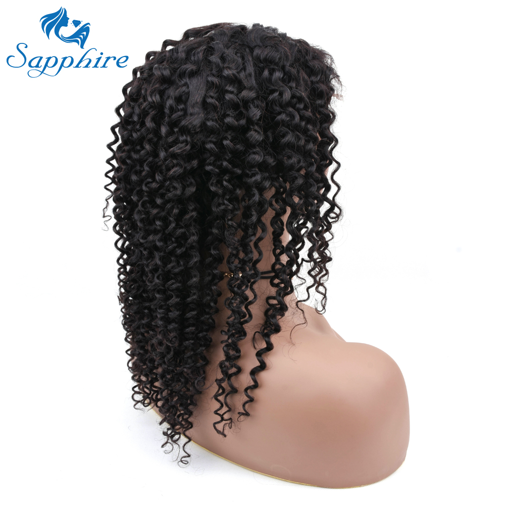 Sapphire Kinky Curly Lace Front Human Hair Wigs For Women Pre Plucked With Baby Hair Brazilian