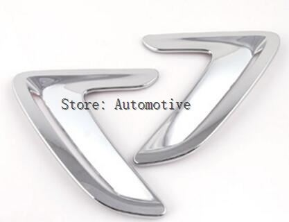 For BMW 3 Series GT Gran Turismo F34 Air Vent Cover Hood Intake Bezel Fender ABS Chrome 3D Sticker 2013-2016 New Arrivals