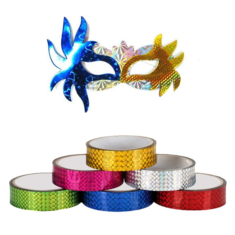 15mmx30m Rhythmic Gymnastics Decoration Holographic Tapes  Prismatic Glitter Tapes Artistic Hoops Stick