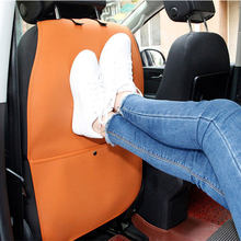 leather Car Seat Back Protector Cover Children Anti kick Pad Mat Protects From Mud Dirt for fiat grande punto stilo uno tempra(China)