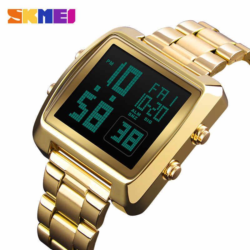 SKMEI Double temps hommes LED affichage montre numérique Sports de plein air montres étanche mâle montre-bracelet Relogio Masculino 1369 horloge