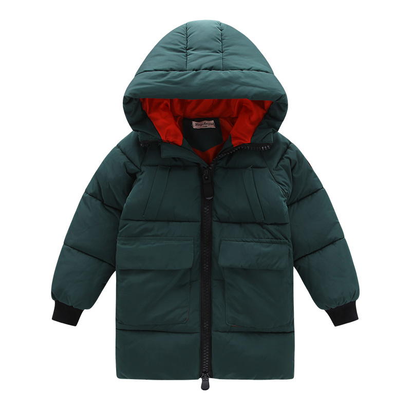 boys winter Coat hooded 4-11 years old kids down jacket children's parkas hot sale thick Windproof and warm Armband large pocket