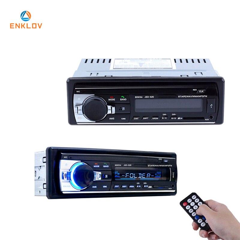 ENKLOV Sans Fil Bluetooth Voiture MP3 Lecteur de Musique Haute Qualité À Jouer À Distance De Contrôle AUX Entrée Audio USB Mémoire Pour Voiture