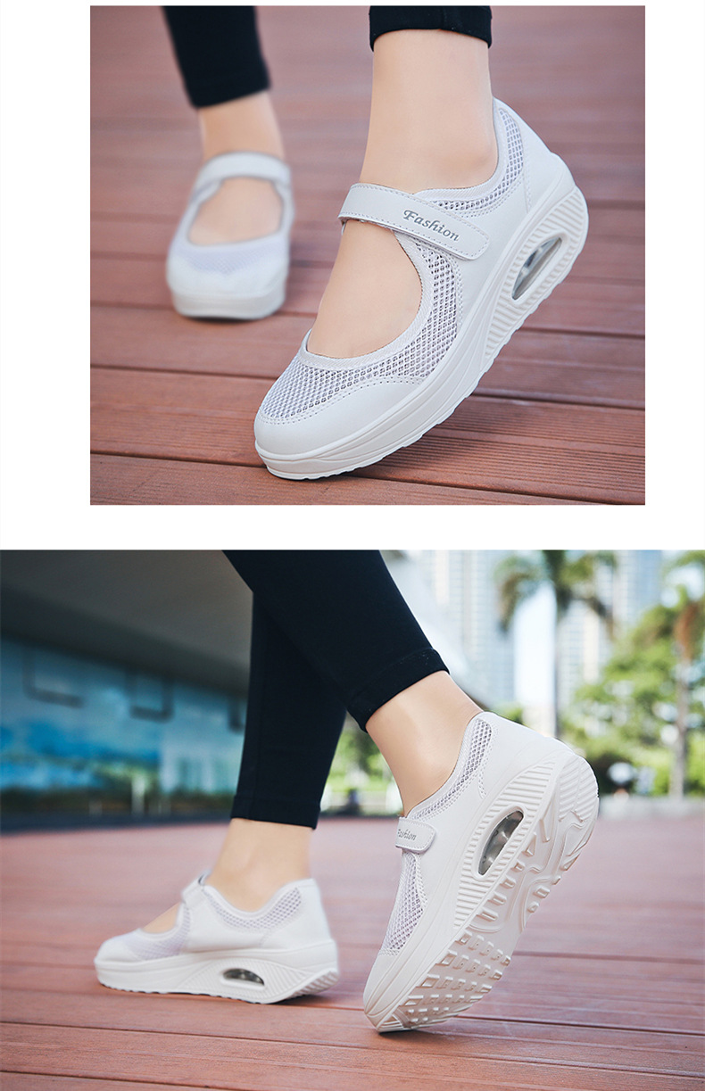 STS Brand 2019 New Fashion Women Sneakers Casual Air Cushion Hook & Loop Loafers Flat Shoes Women Breathable Mesh Mother`s Shoes (17)
