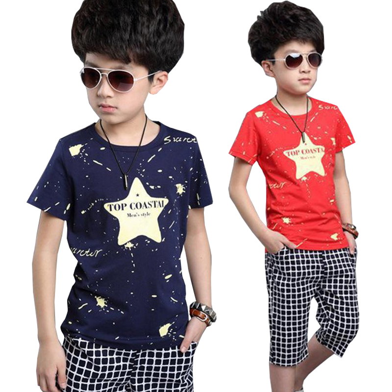 2018 Children Kids Boys Summer Clothes Sets Cartoon Boys T-Shirt + Shorts Sport Suit Baby Boy Clothes Stars Graffiti infant set laptop keyboard for dexp aquilon o142 atlas h131 h132 h133 h136 black with black frame ru russian
