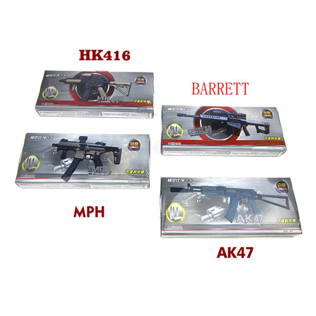 Mini Barrett/HK416/MPH/AK47 Scale 1:6 Alloy Manual Air Gun Model with Soft  Bullet Pistol Toys for Boys CS Game Gift A400