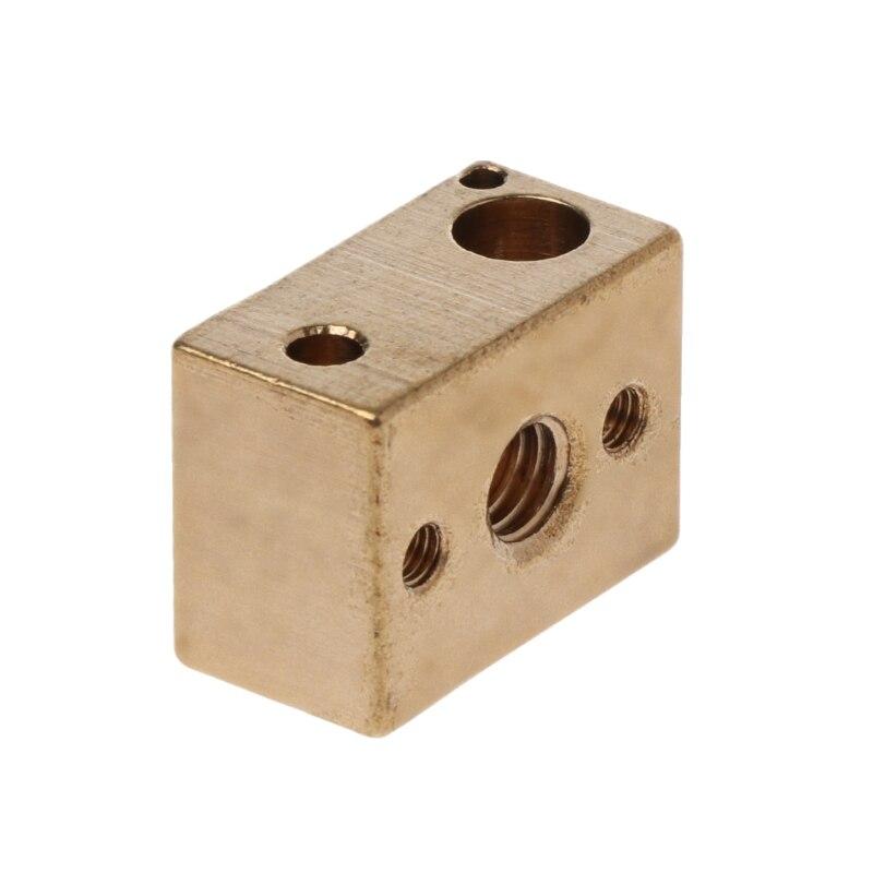 3D Printer Brass Heater Block for Copper Hotend High Temperature V6 Nozzles Extruder