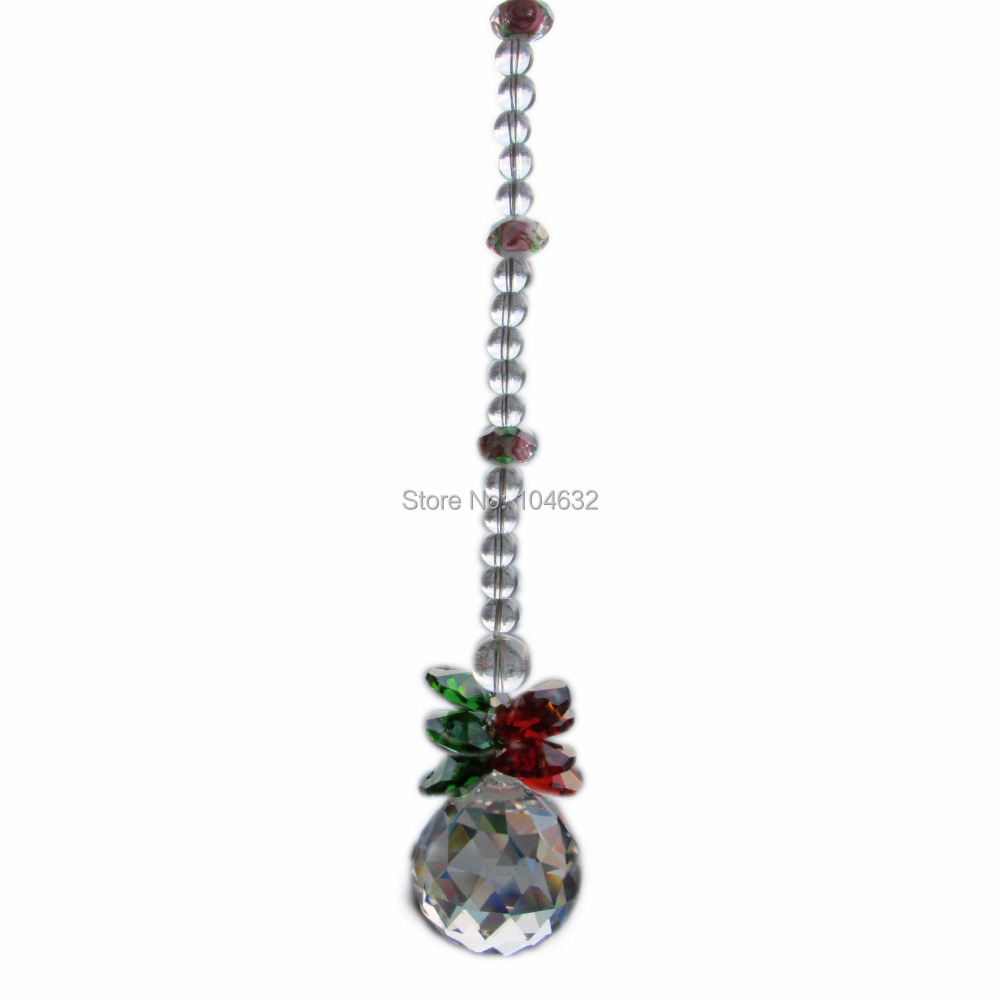 Feng shui 30mm crystal ball&14mm octagon beads healing crystals suncatcher wedding decorationcrystal chandelier parts 1859-1