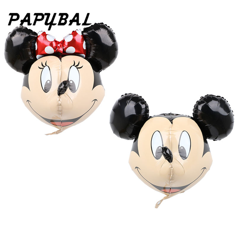 50pcs Mickey Party Balloon Miraculous 3D Mickey Minnie Balloons Red Bowknot Mickey Birthday Minnie Party Decoration
