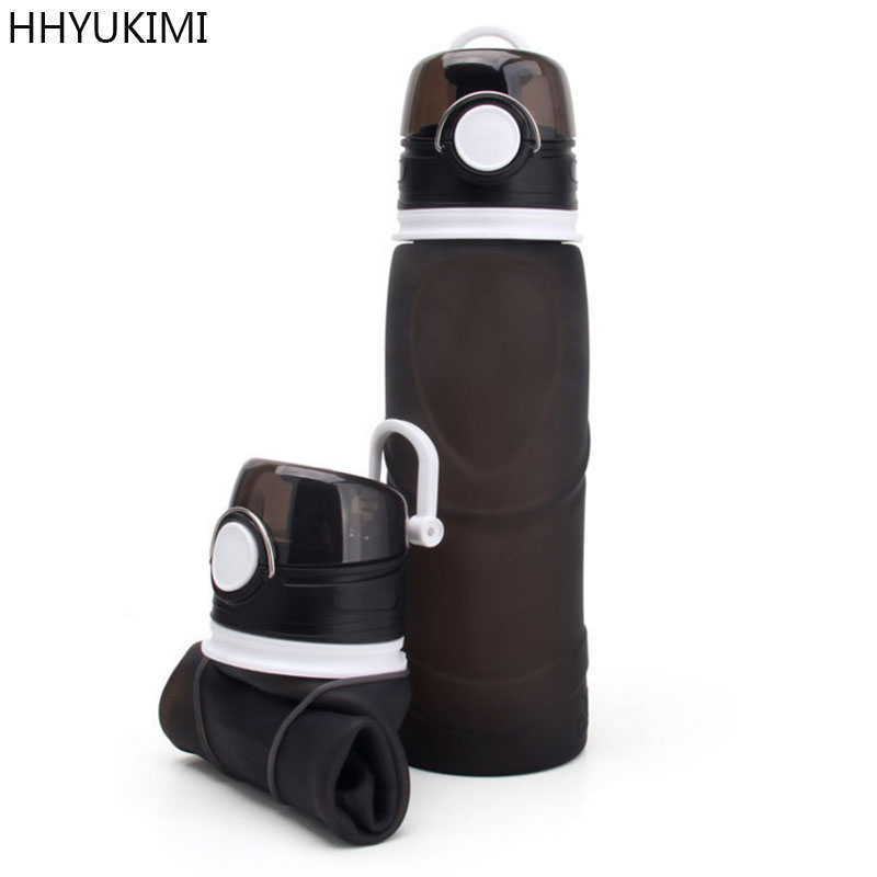 HHYUKIMI Portable Creativity Foldable Silicone Water Bottle Kettle For Travel Outdoor Sport Camping Hiking Walking Running