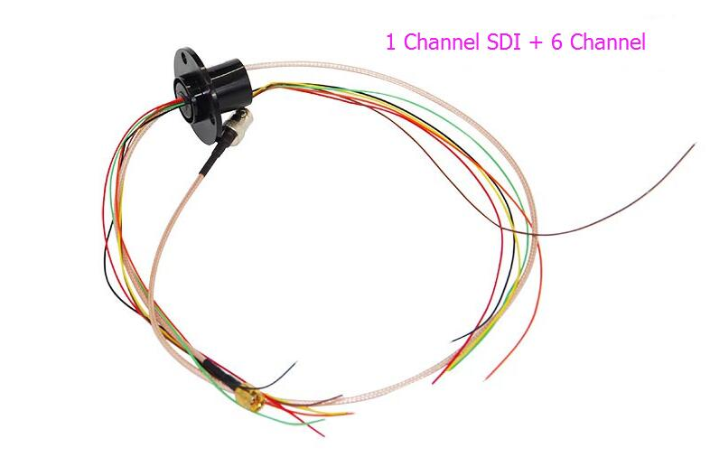 SDI-22-01HXX Conductive Slip Ring 1 Channel SDI + 6Channel/12Channel/16Channel 2A HD Slip Rings Out Dia.22mm Capsule Slipring mercury slip ring 1 pole 50a