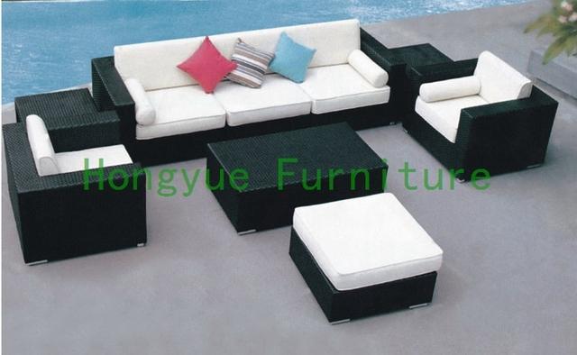 Jardín al aire libre sofá seccional, muebles de exterior