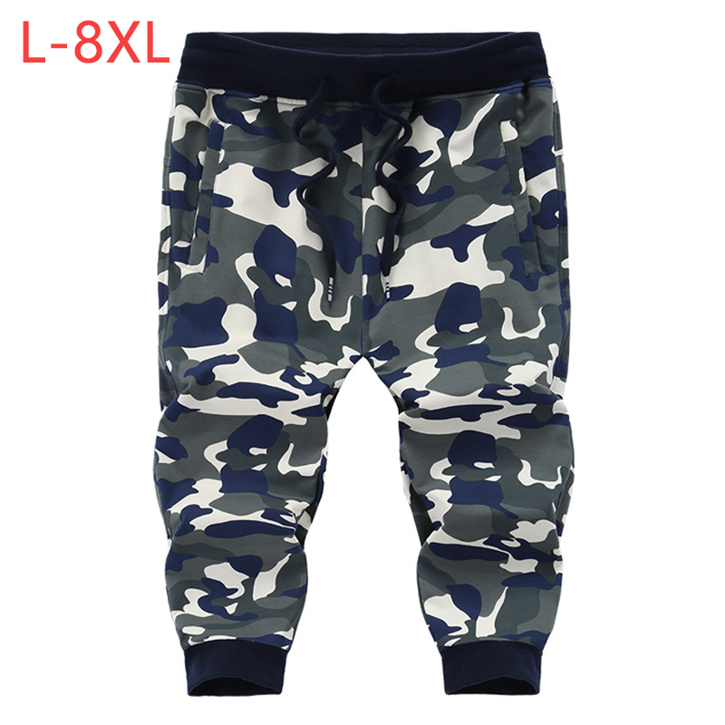 Summer Men Camouflage Baggy   Shorts   L-8XL Big Size Spring Autumn Male Casual Thin Cotton Fitness Beach   Short   Stretch Trousers