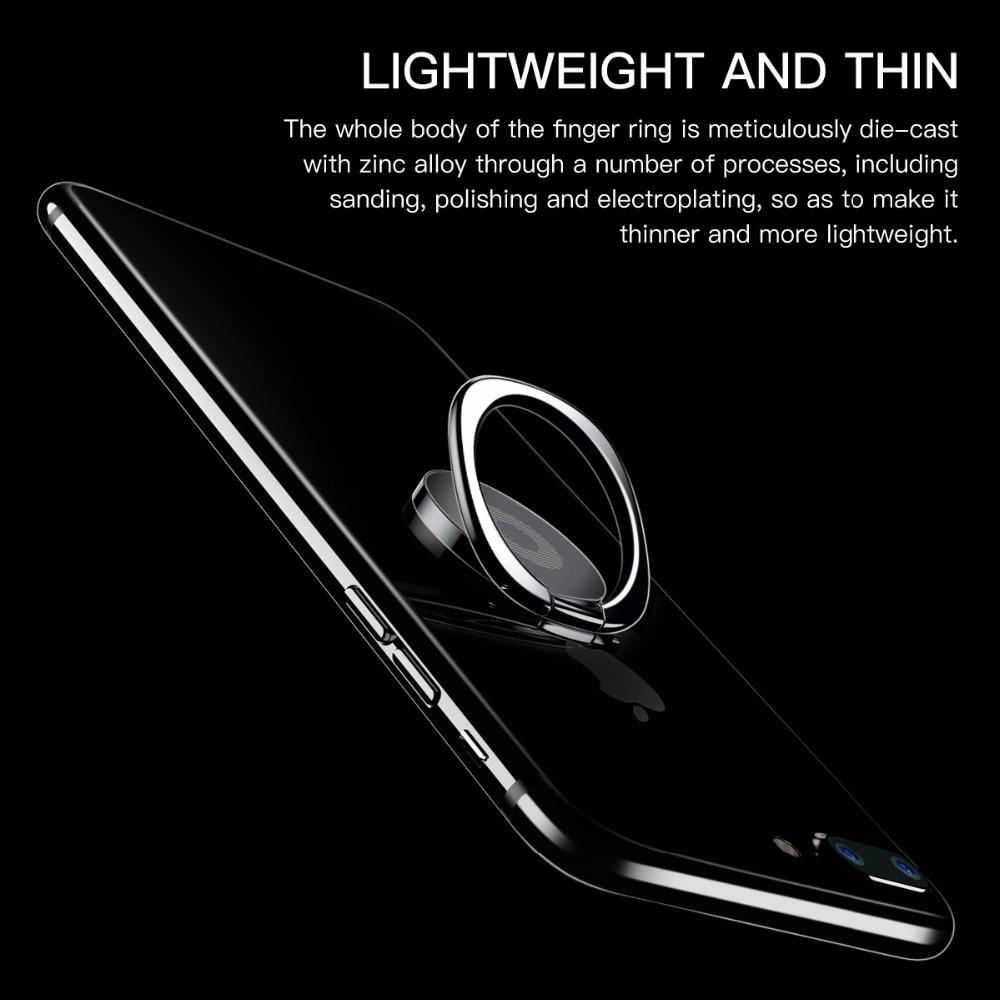Baseus Ring Ring Ring Holder Stojak na iPhone'a 11 Pro Max X Xs Xr - Części i akcesoria do telefonów komórkowych i smartfonów - Zdjęcie 2
