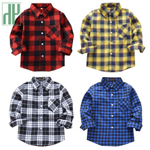 Teenage Boys Shirts Classic Casual Plaid Children shirts kids blouse for girls Spring/Autumn girls tops and blouses 2-12 Years girls plaid blouse 2019 spring autumn turn down collar teenager shirts cotton shirts casual clothes child kids long sleeve 4 13t