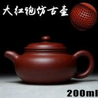 Đích thực Yixing Zisha masters quặng ấm trà handmade nồi bùn Dahongpao Trà Zhu antique bán buôn và bán lẻ 219