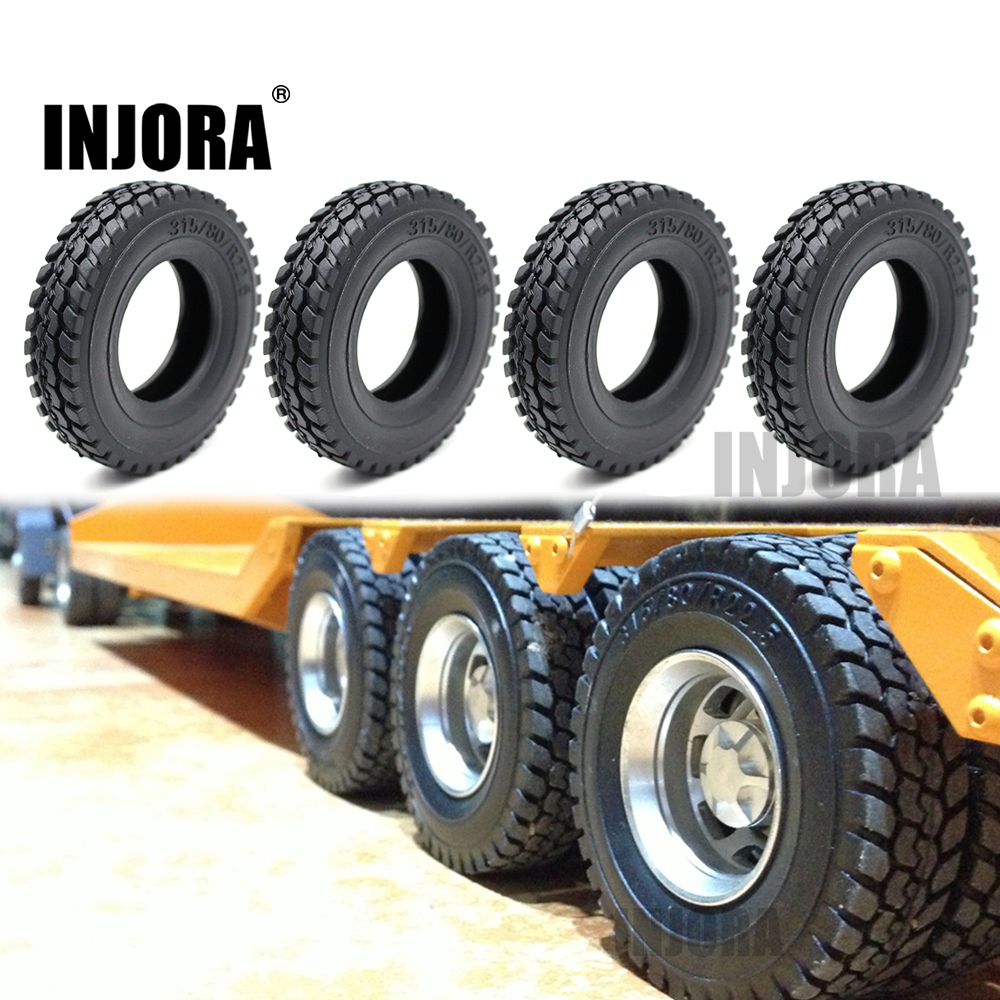 INJORA 4Pcs/set 85*20MM Rubber Wheel Tires Tyres for 1:14 <font><b>Tamiya</b></font> Tractor <font><b>Truck</b></font> <font><b>RC</b></font> Car Part image