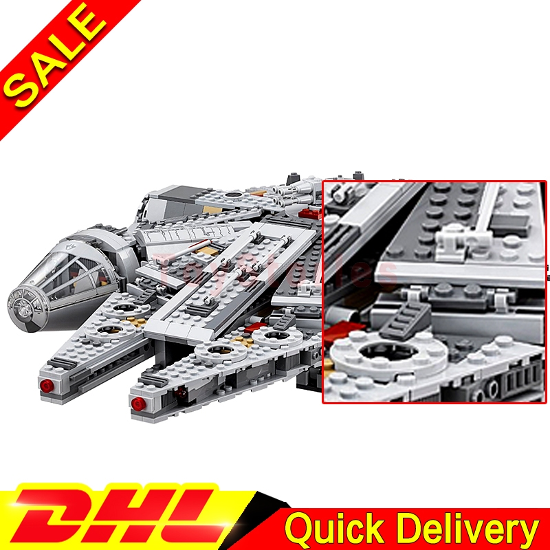 DHL In Stock LEPIN 05007 Star Series War Building Blocks Force Awakens Millennium legoings 75105 Falcon Model Toys For Kid Gift 2018 dhl lepin star series war 05007 05033 05132 building blocks bricks model toys compatible 75105 10179 75192 gifts