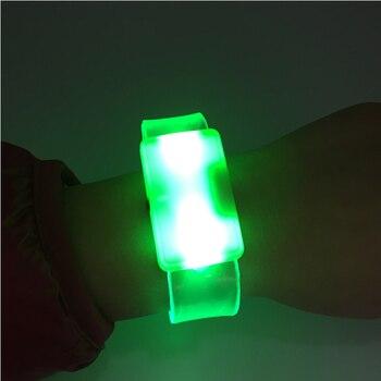 30pcs/lot Christmas Lights Flashing LED Bracelet Glow Neon Party Bracelet Fluorescent Lumineux Rave Party Decoration