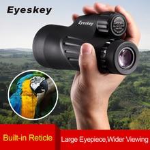 Eyeskey telescopio Monocular con retícula integrada, 10x50, impermeable, nitrógeno, para acampar, con miras de caza y Prisma Bak4