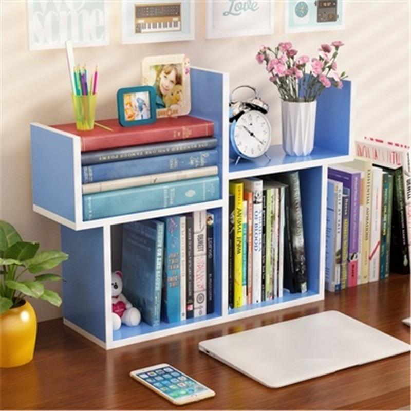 Simple Modern Creative desktop Small Mini Bookshelf Student Bookcase storage racks office shelves Children Desk Storage Shelves bookshelf racks simple creative desk small bookcase
