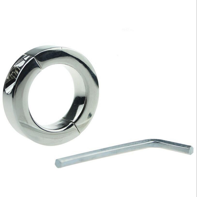 Metal Penis Rings 140g Heavy Cock Ring Locking Metal Sex Toys Adult Game Sex Products for Men Couples Chastity Device Adult Game